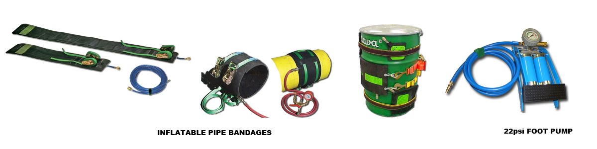 Pipe Bandages and Leak Sealing Bags
